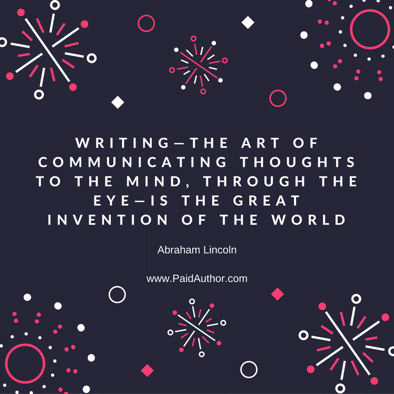 Abraham Lincoln Writing Quotes
