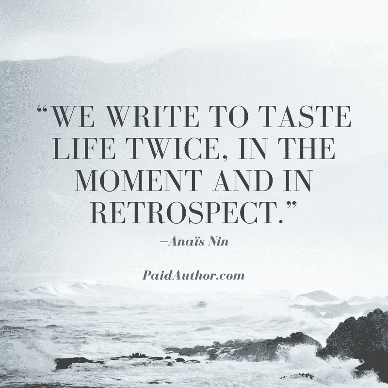 Author Quotes on Writing by Anaïs Nin