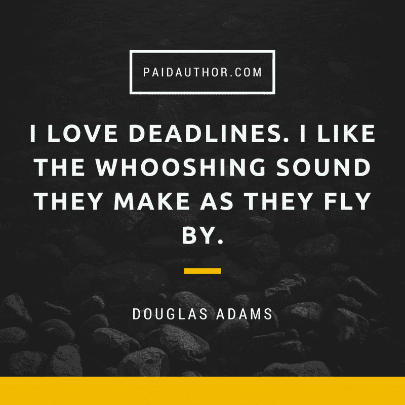 Author Quotes for Writers by Douglas Adams