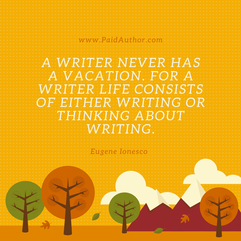 Eugene Ionesco Writing Quotes for Authors