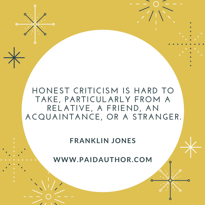 Franklin Jones Quotes about Writing