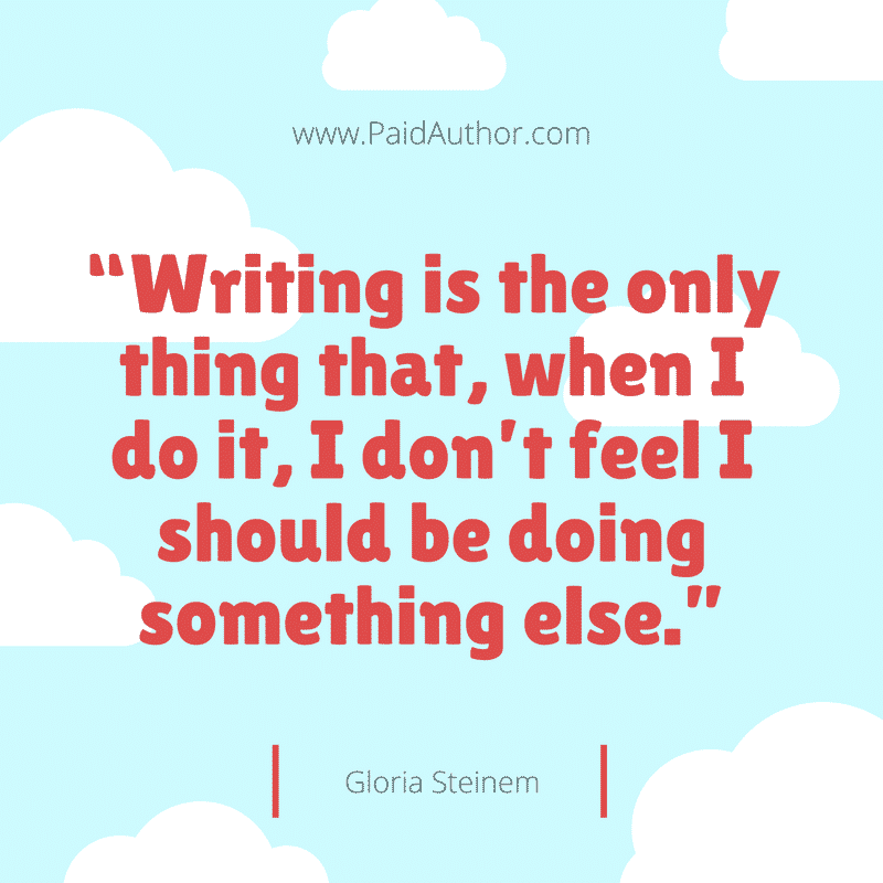 Gloria Steinem Author Quotes for Writers
