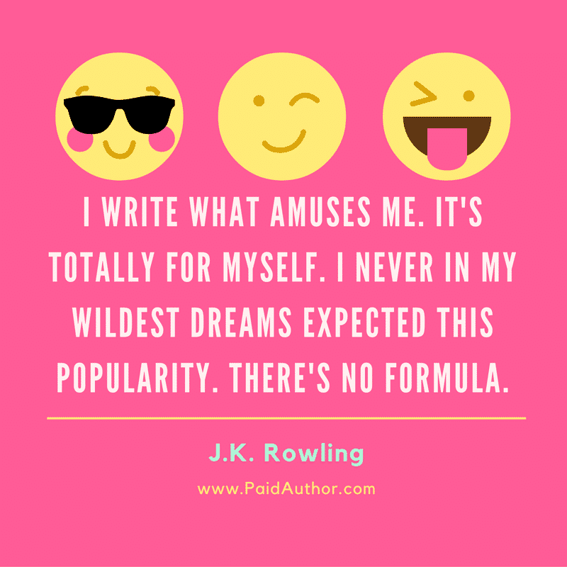 J.K. Rowling Author Quotes on Writing