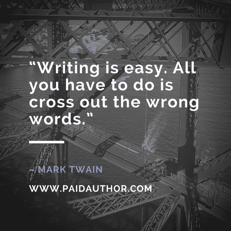 Author Quotes on Writing by Mark Twain