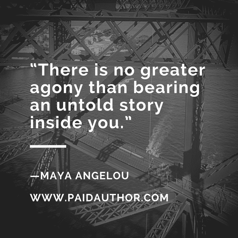 Maya Angelou Author Quotes on Writing