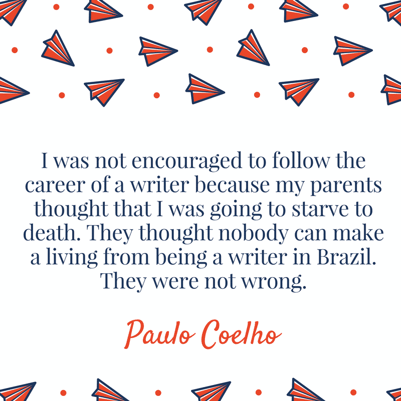 Paul Coelho Author Quotes for Writers