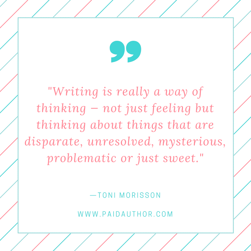 Author Quotes on Writing by Toni Morrison