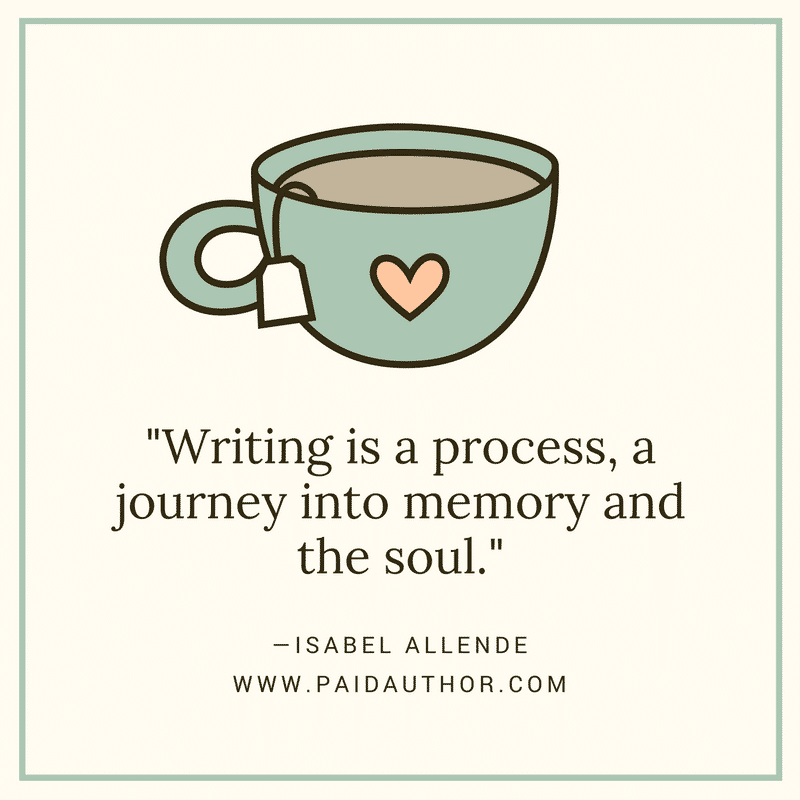 Author Quotes about Writing by Isabel Allende