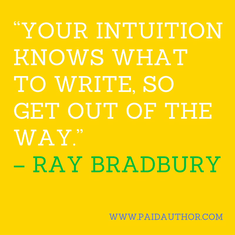 Author Quotes about Writing by Ray Bradbury